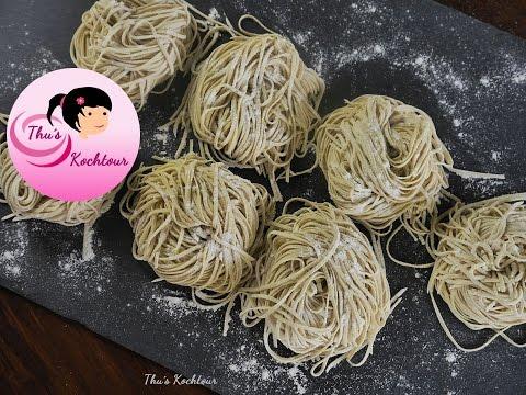 [ENG SUB] Homemade Ramen Noodle/ Hausgemachte Ramen Nudeln/ Cach lam mi tuoi/ Vegan