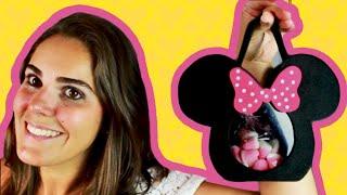 MOLDE EM: www.facebook.com/amofestas - álbum MOLDES Passo a passo de como fazer uma bolsinha ou baleiro com visor de guloseimas!!! Ótima opção para dar de lembrancinha e enfeitar suas festinhas!!!  Minnie Vermelha ou Minnie Rosa. www.amofestas.com