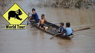 preview picture of video 'Iles Don Det et Don Khon Laos du sud ( Tour du monde voyage voyages vacances sejour )'