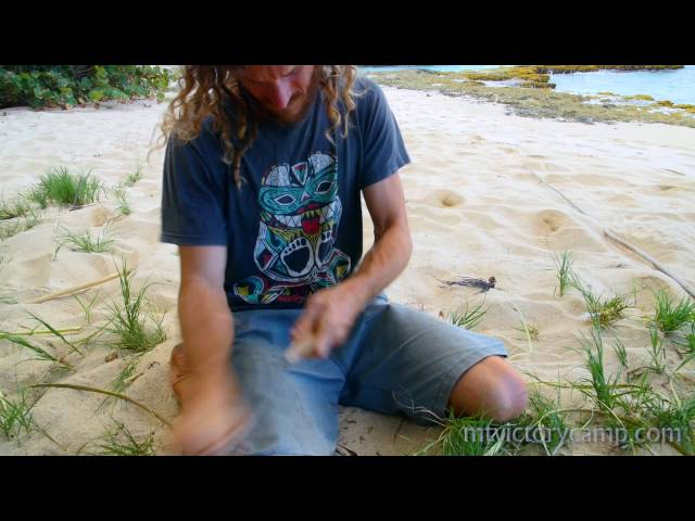 Making a Primitive Fish Spear - Tropical survival skills