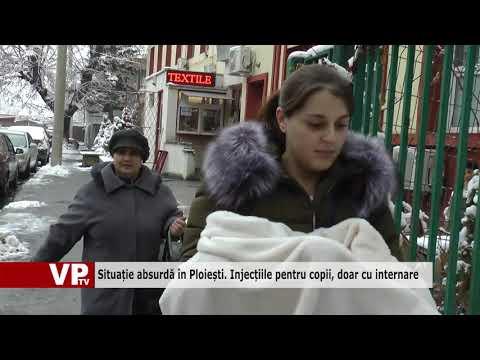 Situație absurdă în Ploiești. Injecțiile pentru copii, doar cu internare