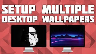Setup Different Wallpapers on Multiple Displays in Windows 10 (2019!)!