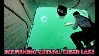 Clear Ice Fishing - Lake Simcoe