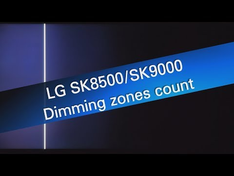 LG 49SK8500 local dimming test - 9x4 dimming zones - TV Calibration