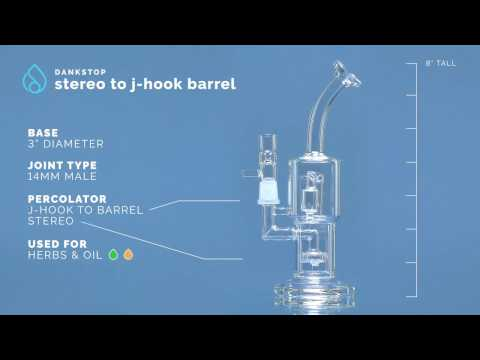 Stereo to J-Hook Barrel Perc Water Pipe demo video thumbnail