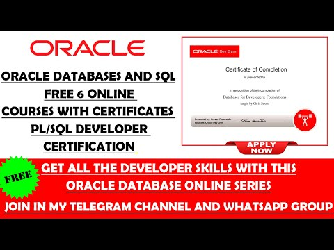 Oracle Databases and SQL Free Online Courses with Certificates ...