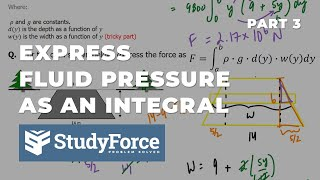 📚 How to express fluid pressure force as an integral (Part 3, Trapezoid Dam)