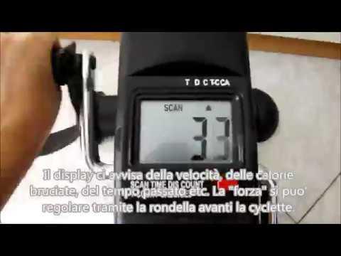 Mini cyclette con monitor LCD per gambe e braccia Finether