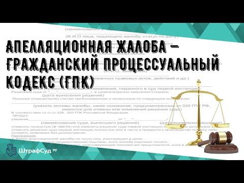 Апелляционная жалоба — Гражданский процессуальный кодекс (ГПК)