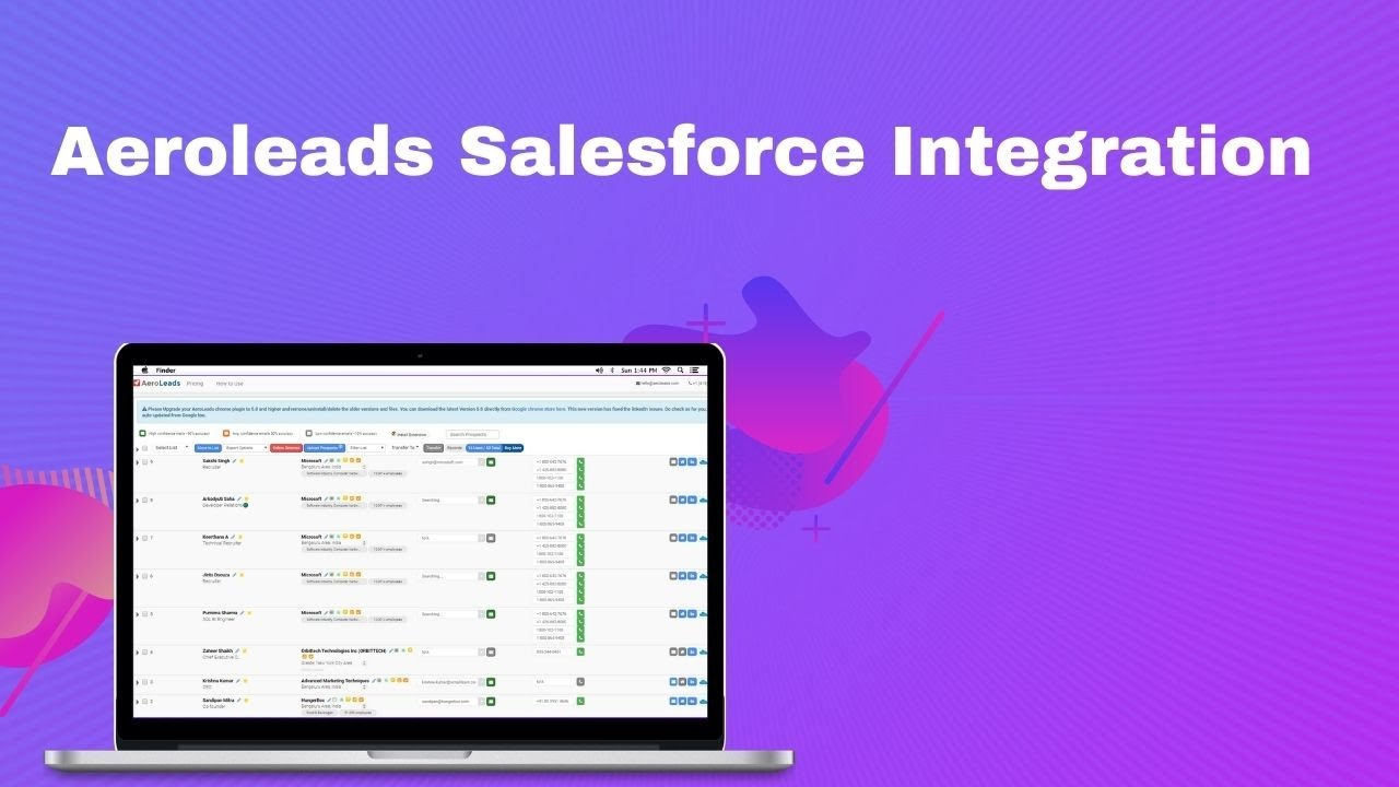 Aeroleads Salesforce Integration – Transfer Data From Aeroleads To Salesforce