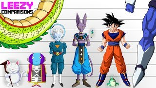 Dragon Ball Characters SIZE COMPARISON | LeeZY Comparisons