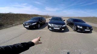 Камри 3.5  vs  Камри 3.5 !!!  БАТЛ !!!  Mercedes C-300 (260)л/с !!!