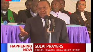 President Uhuru Kenyatta pays tribute to the victims of Solai dam tragedy