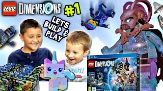 Lets Build & Play LEGO Dimensions #1:  Starter Pack Timelapse & Gollum (LORD VORTECH Introduction)