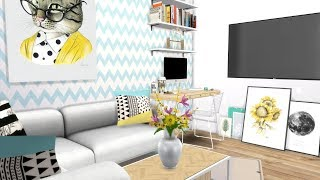 The Sims 4: Speed Build // TINY APARTMENT + CC LINKS