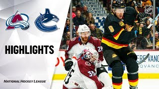 NHL Highlights | Avalanche @ Canucks 11/16/19