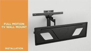 How to Install Ultra-Slim Low Profile Full-Motion TV Wall Mount-LPA59-463D