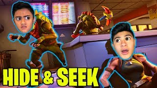FORTNITE HIDE AND SEEK! **EPIC GAME in CUSTOM GAME MODE**
