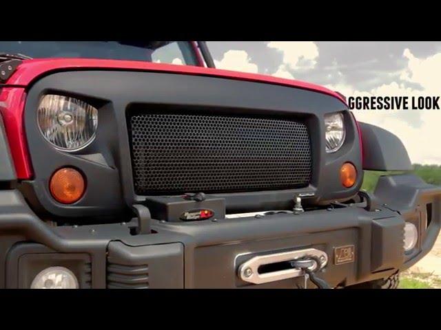 Skull Rugged Ridge 12034.23 Spartan Grille Insert for Jeep Wrangler JK