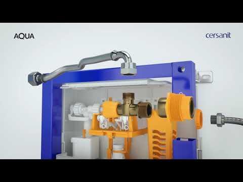Инсталляция для подвесного унитаза Cersanit Aqua 40 (P-IN-MZ-AQ40-QF) 8