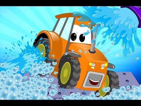 Tractor | Car Wash For Kids | Learn Transport | Teach Vehicles