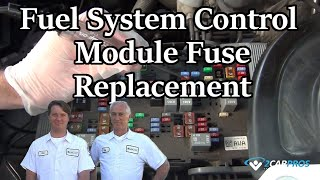 Fuel Pump Control Module Fuse Replacement