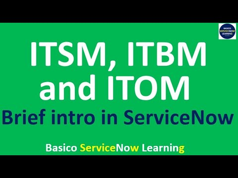 ServiceNow ITSM   ServiceNow ITOM   ServiceNow ITBM - Brief of All ServiceNow Applications