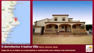 preview picture of video '5-dormitorios 4-baños Villa se Vende en Murla, Alicante, Spain'