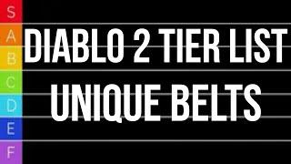 Diablo 2 TIER LIST - Unique Belts