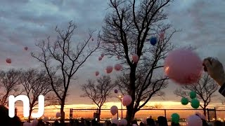 Balloon release in memory of Tim and Bridget O