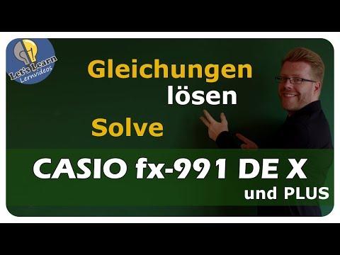 CASIO fx-991DE X - Gleichungen lösen, Nullstellen oder Schnittpunkte bestimmen - einfach erklärt
