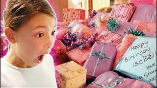 ISABELLES 12th BIRTHDAY MORNING OPENING PRESENTS!