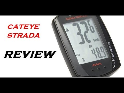 [4K] The Review On Cateye Strada Wireless Bike CycloComputer CC-RD300W.