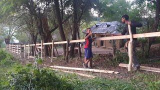 Am finalizat gardul din fata !Ziua 41 la căsuța din pădure!