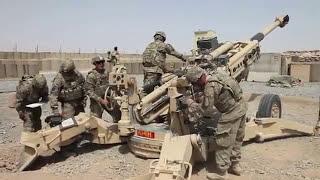 """🔥""""Снайперская винтовка"""" калибр 155 мм / Тренировочные стрельбы в Афганистане"""