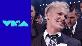 P!nk on Winning the 'Video Vanguard Award' | 2017 VMA Pre-Show | MTV