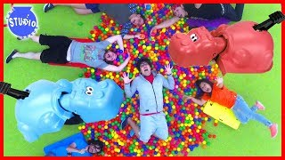 Giant Hungry Hungry Hippo Challenge In Real Life!!!