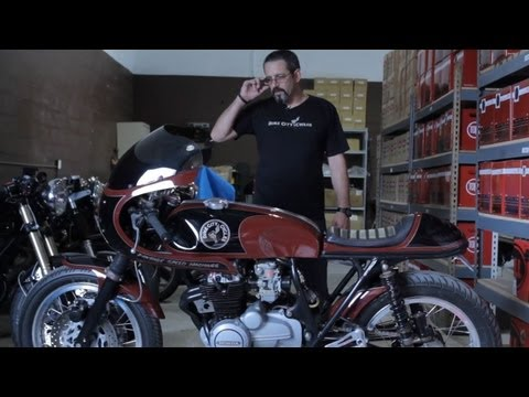 Dime City Cycles: The Four Hundred 1975 Honda CB 400 Cafe Racer
