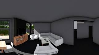 Каркасный дом в норвежском стиле в формате VR 360