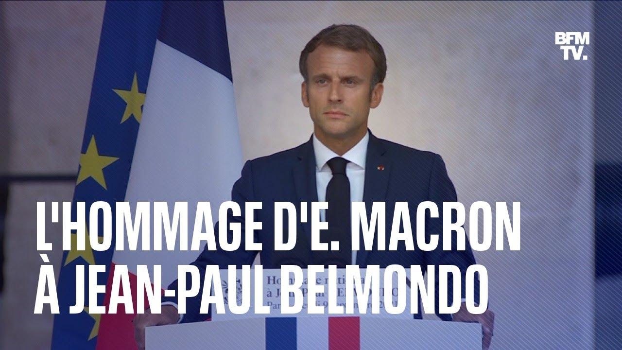 Hommage à Jean-Paul Belmondo: le discours d'Emmanuel Macron en intégalité