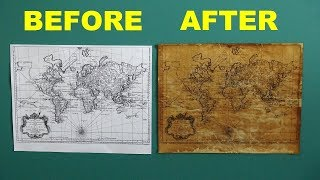 How To Make Paper Look Old - How to Age Paper Easy and Fast (Technique #1)