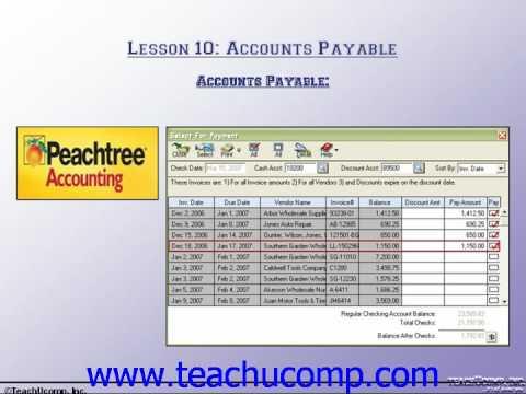 Accounting Tutorial Accounts Payable Training Lesson 10.1 ...