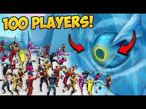 *100 PLAYERS* TROLL GIANT EYE!! - Fortnite Funny Fails and WTF Moments! #575