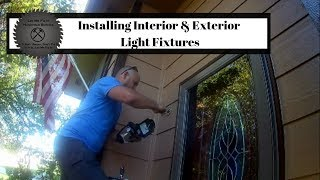 Handyman Installs Interior & Exterior Light Fixtures