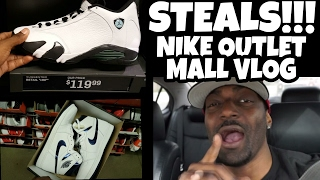 STEALS AT THE NIKE OUTLET MALL VLOG!!!!