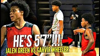 SHORTEST Player On The Court STEALS The SPOTLIGHT In Front of TOP D1 Coaches!! vs EBO & Jalen Green!
