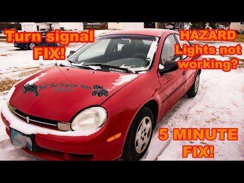 EASIEST Dodge / Plymouth Neon turn signal/ hazard light fix