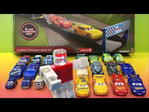 Cars 3 Lightning McQueen & Roblox Toy ED TRUNCAN WINNER of Disney Cars Florida Speedway Race-Off