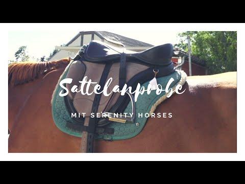 Sattelanprobe Baumloser Sattel Freeform mit Serenity Horses
