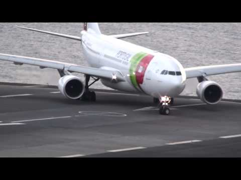Descolagem Aeroporto da Madeira A320 to Lisboa e A330-200 to Caracas Take-off at Madeira airport